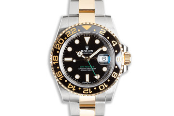 2020 Rolex GMT-Master II 18k & Stainless 116713LN with Box & Card photo
