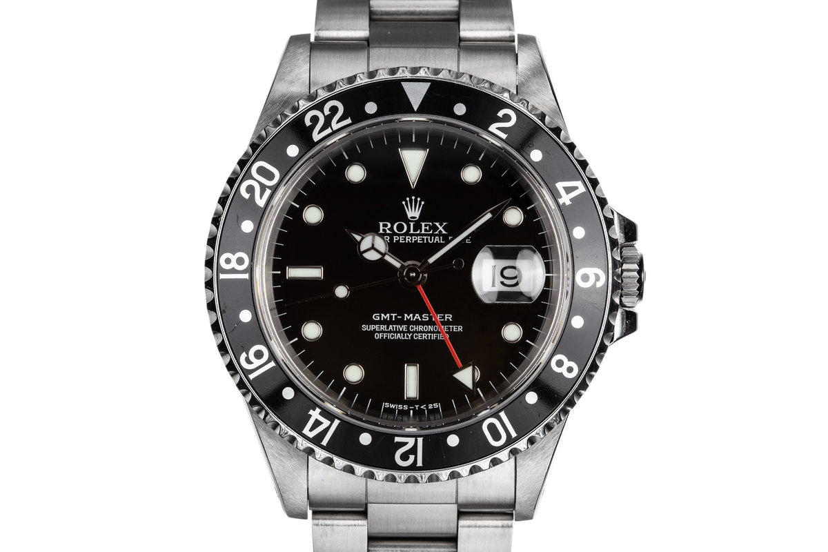 1998 Rolex GMT-Master 16700 Black Bezel with Service Papers photo, #0