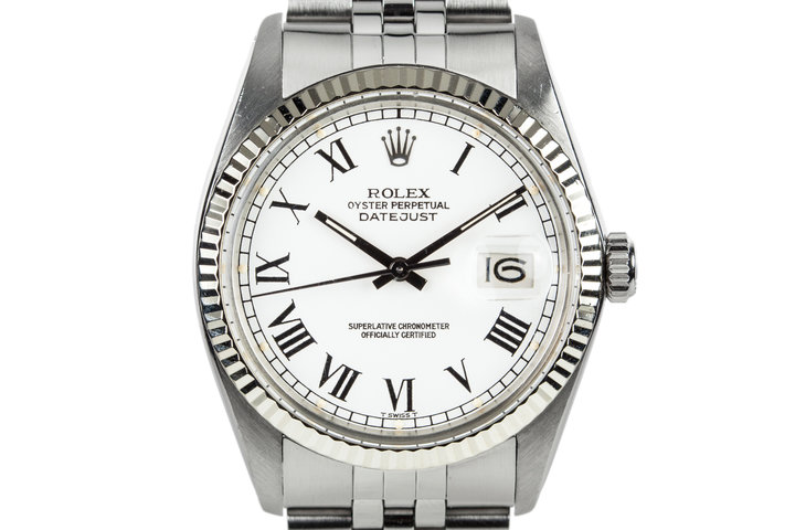 1979 Rolex DateJust 16014 White Roman Numeral Dial photo