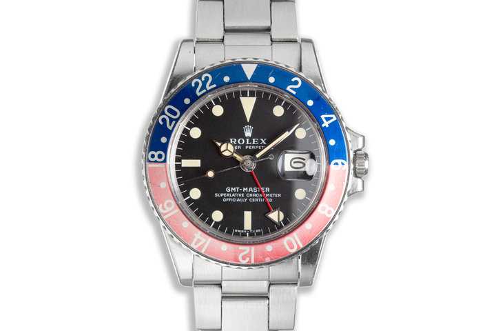 1972 Unpolished Vintage Rolex GMT-Master MKII 1675 with Box photo