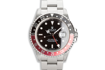 "2000 Rolex GMT-Master II 16710 ""Coke"" Bezel with Box & Papers photo"