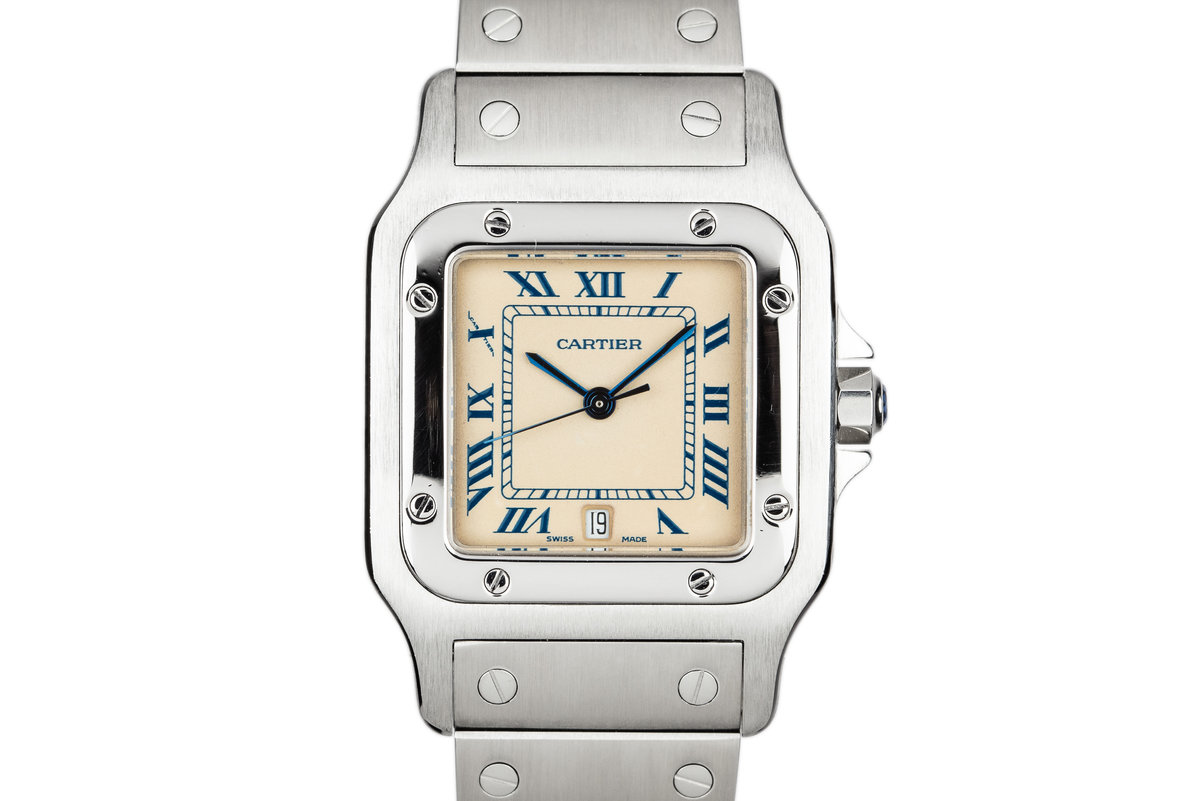 Cartier Santos Galbée Date Quartz 987901 photo, #0