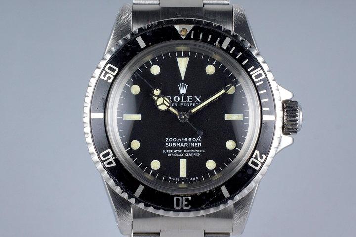 1967 Rolex Submariner 5512 4 Line Dial photo
