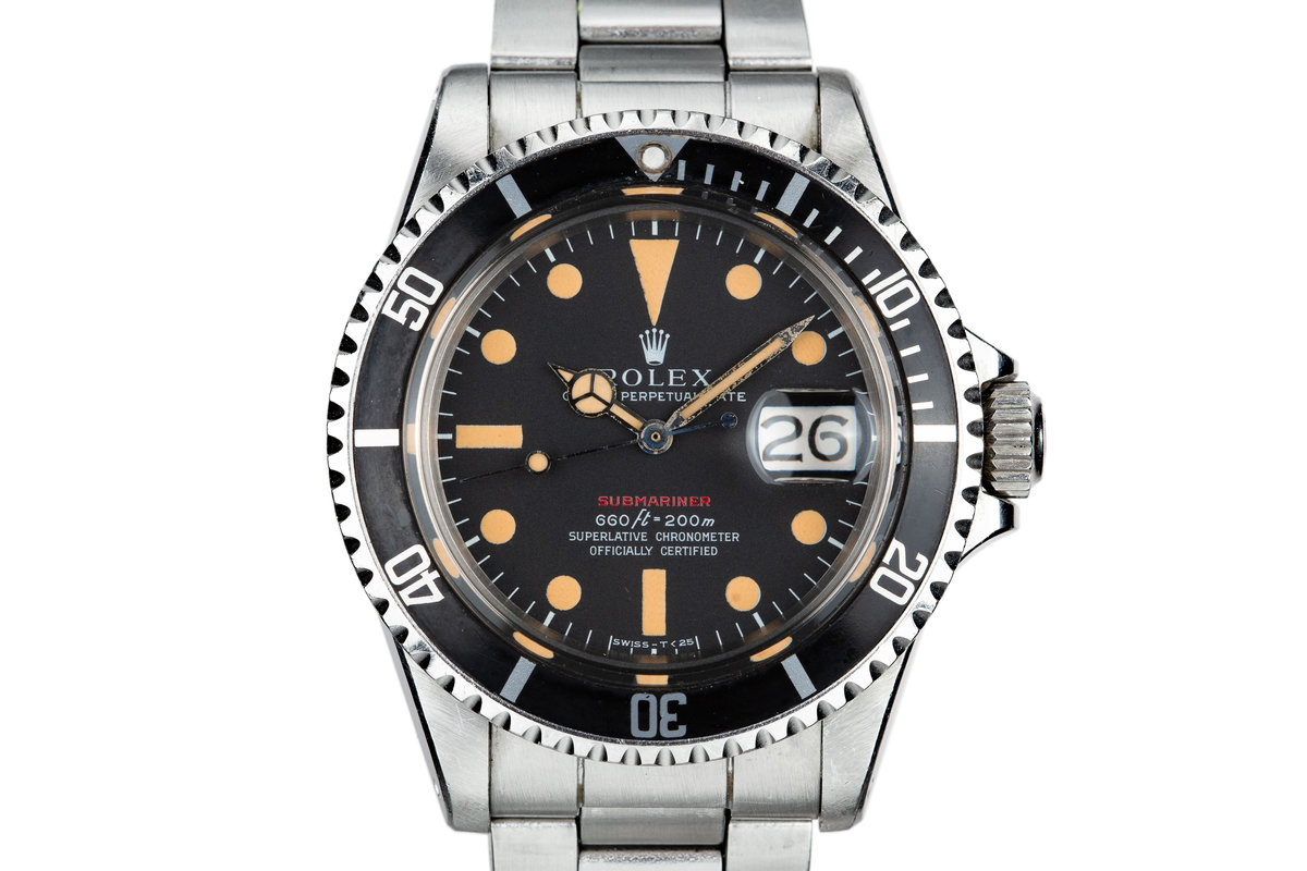 1970 Rolex Red Submariner 1680 with MK IV Dial photo, #0
