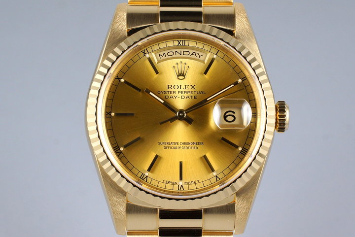 1995 Rolex YG Day-Date 18238 Champagne Dial photo