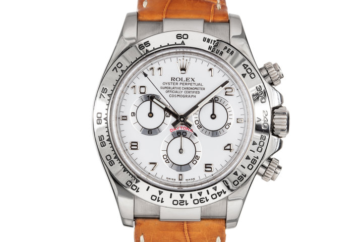 2005 Rolex White Gold Daytona 116519 White Dial photo