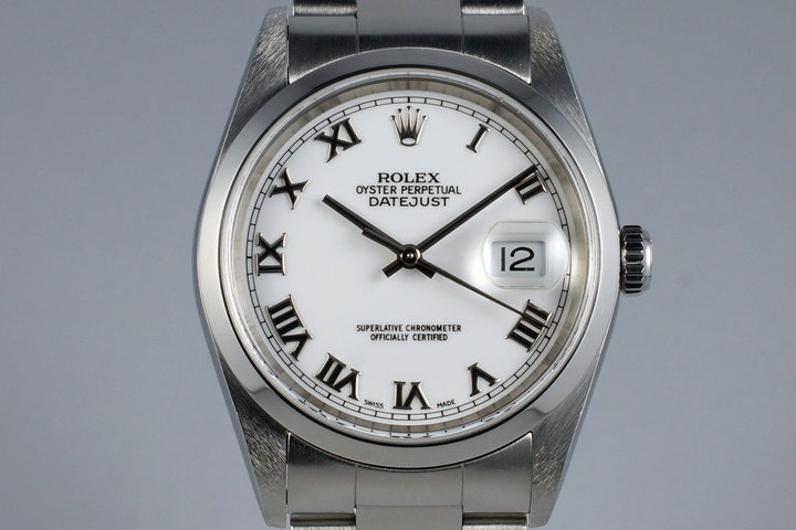 2003 Rolex DateJust 16200 with White Roman Dial photo
