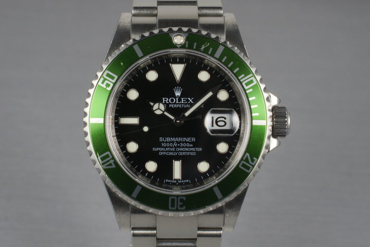2009 Rolex Green Submariner 16610T Mark V Dial photo