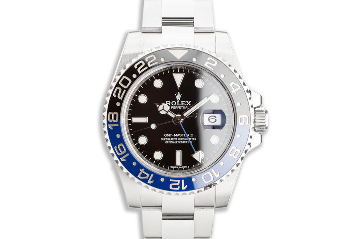 "2018 Rolex GMT-Master II 116710BLNR ""Batman"" with Box & Card photo"