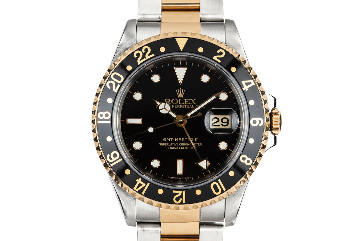 1995 Rolex Two-Tone GMT-Master II 16713 with Box and Papers photo, #0