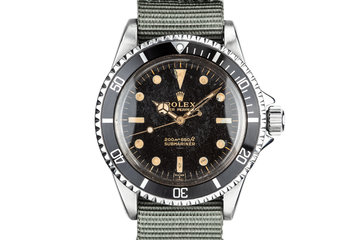 1963 Rolex Submariner 5513 with SWISS Only Gilt Underline Dial photo