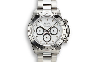 1997 Rolex Zenith Daytona 16520 White Dial with Box and Papers photo