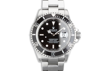 2000 Rolex Submariner 16610 with Hangtag photo