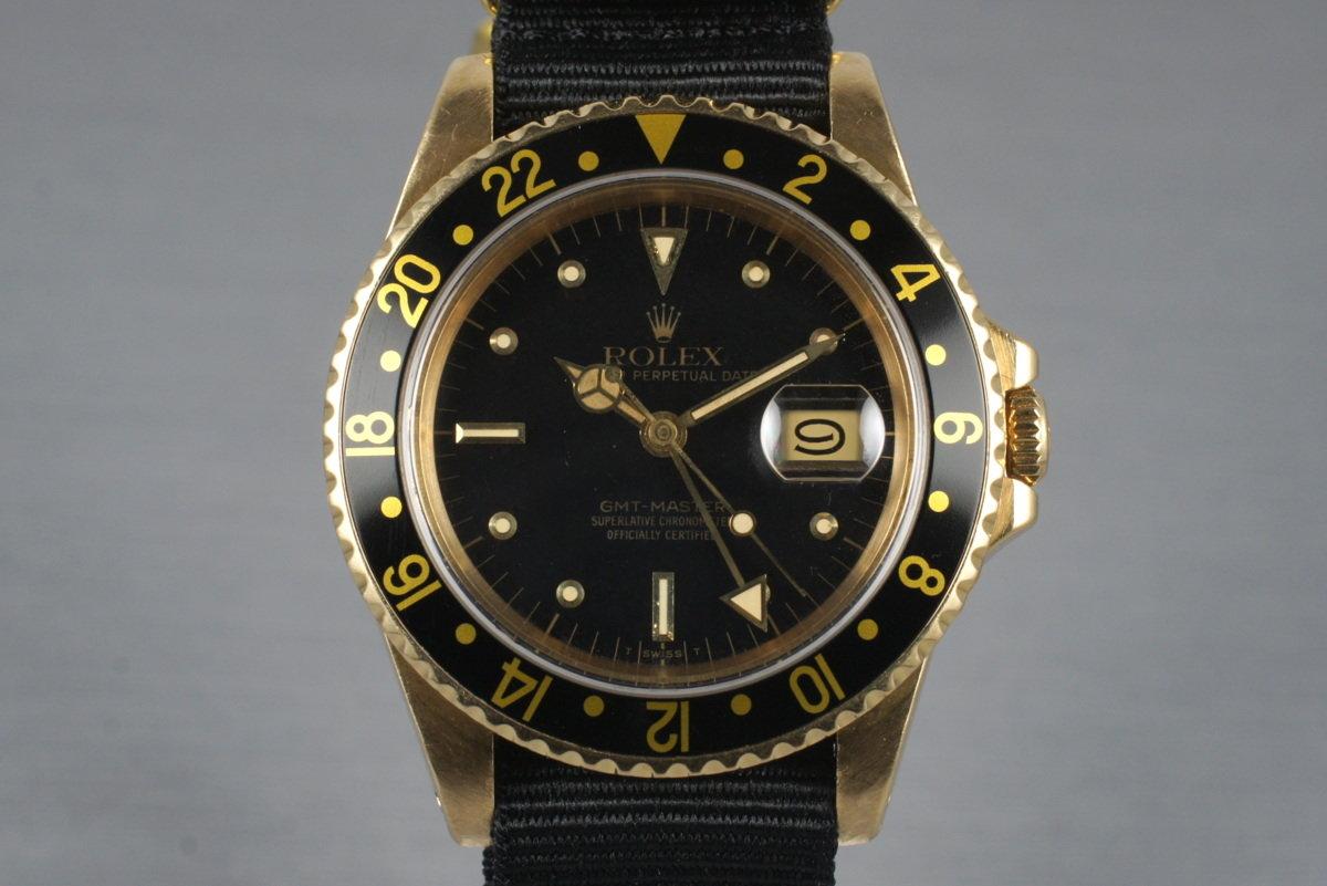 1981 Rolex 18K GMT 16758 photo, #0