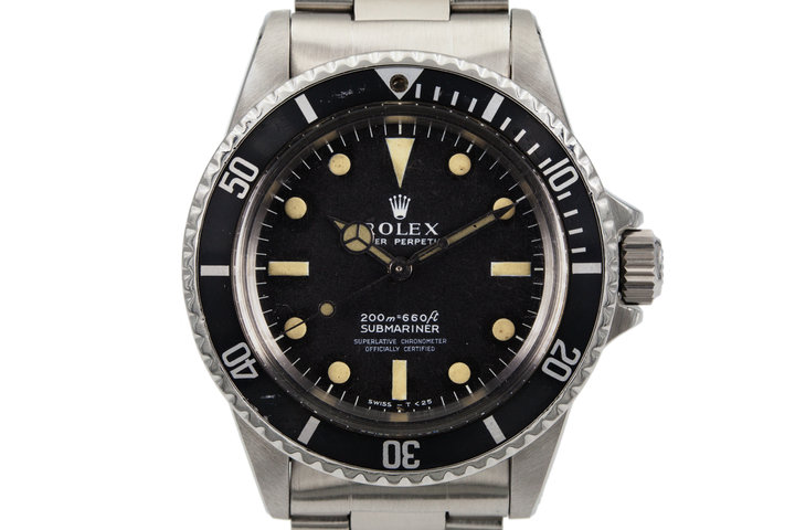 1967 Rolex Submariner 5512 4 Line Meters First Dial photo