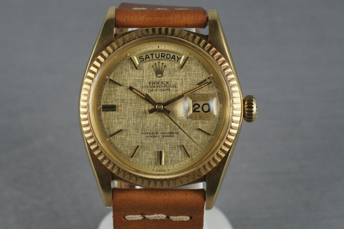 Rolex Vintage 18K YG President 1803 with Linen Dial photo, #0