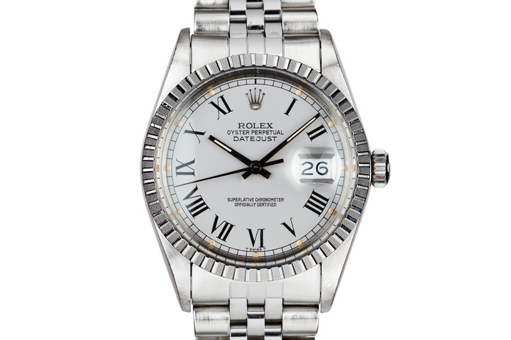 1986 Rolex DateJust 16030 Service Case with Silver Buckley Dial photo