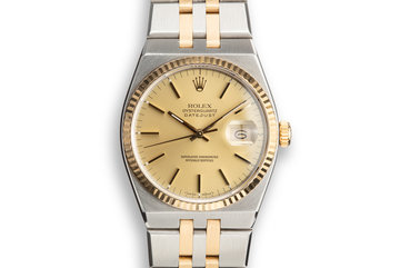 1987 Rolex Two-Tone OysterQuartz 17013B Champagne Dial photo