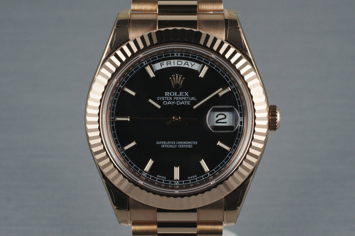 2009 Rolex Rose Gold Day Date II 218235 with Box and Papers photo, #0