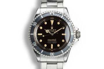 1965 Rolex Submariner 5512 Gilt 4 Line Dial with Box and Papers photo
