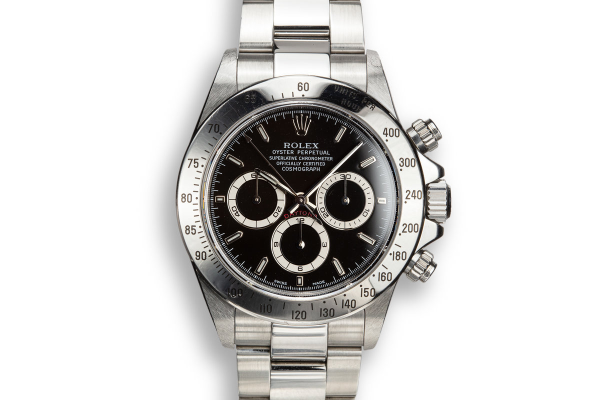1999 Rolex Daytona 16520 Black Dial with Box and Papers photo, #0