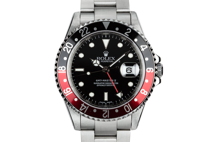 "2002 Rolex GMT-Master II 16710 ""Coke"" with Box and Papers photo"