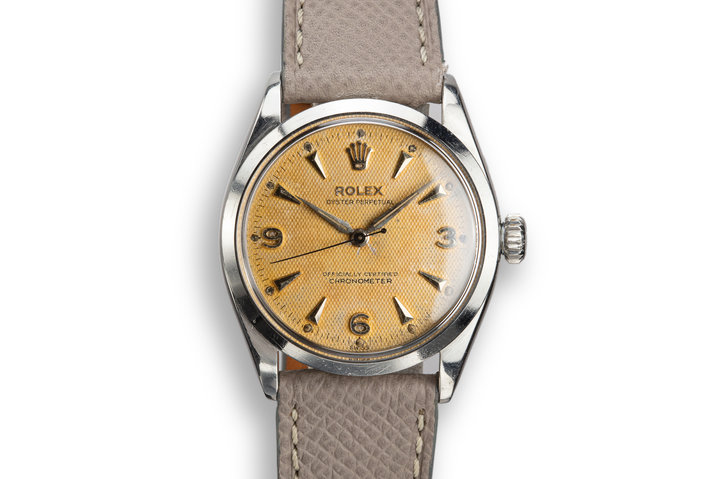 1955 Rolex Oyster Perpetual 6284 Waffle Dial with Service Papers photo