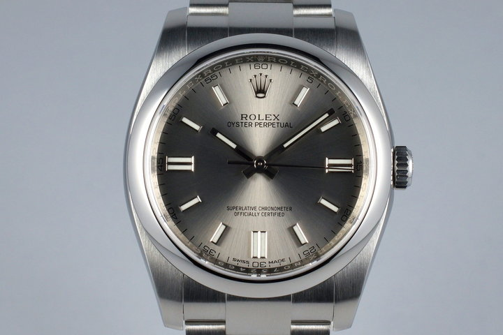 2013 Rolex Oyster Perpetual 116000 Gray Dial photo