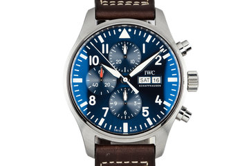 2016 IWC Pilots Chornograph Le Petit Prince Special Edition IW377714 with Box and Papers photo