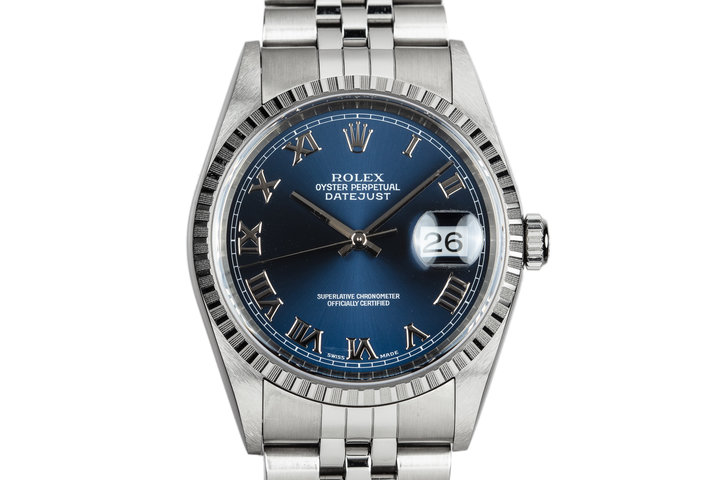 1999 Rolex DateJust 16220 Blue Dial photo