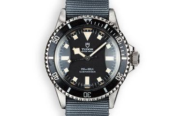 1972 Tudor Snowflake Submariner 7016/0 Black Dial photo