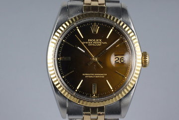 1966 Rolex Two Tone DateJust 1601 Tropical Dial photo