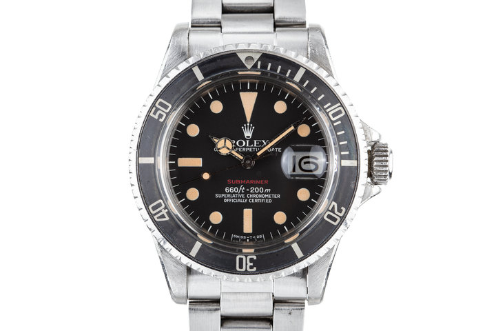 1972 Rolex Red Submariner 1680 with Mark 6 Red Submariner Dial photo
