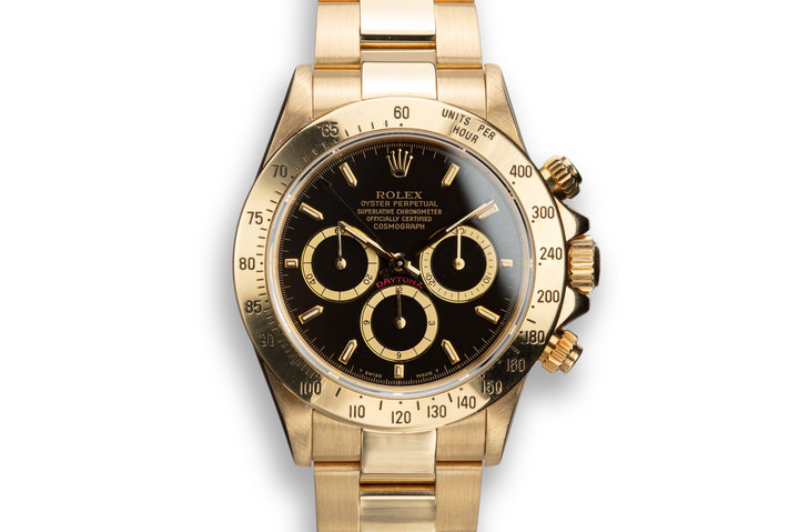 1990 Rolex 18K YG Daytona 16528 Inverted 6 Dial with Papers and Booklets photo