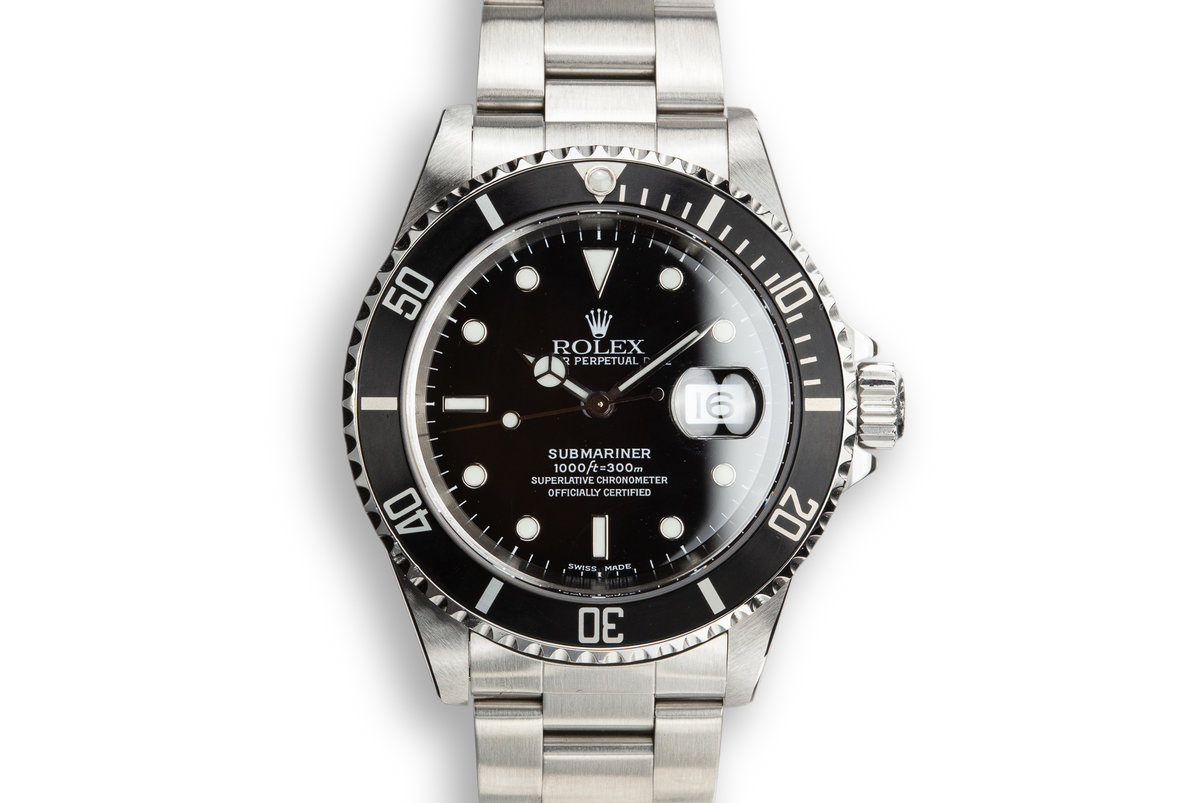1999 Rolex Submariner 16610 with Box and Papers photo, #0