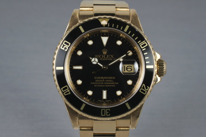 2003 Rolex 18K Submariner 16618 photo