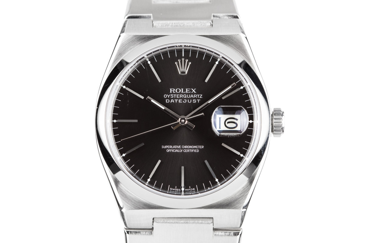 1978 Rolex OysterQuartz DateJust 17000 Black Dial photo, #0