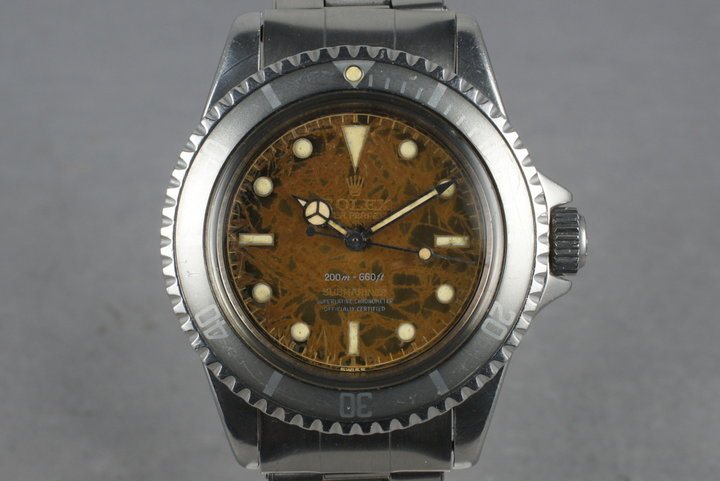 1959 Rolex Submariner 5512 4 Line Gilt Chapter Ring PCG Tropical Dial photo