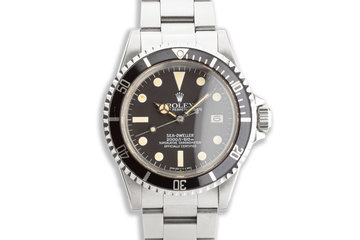 1980 Vintage Rolex Sea-Dweller 1665 photo