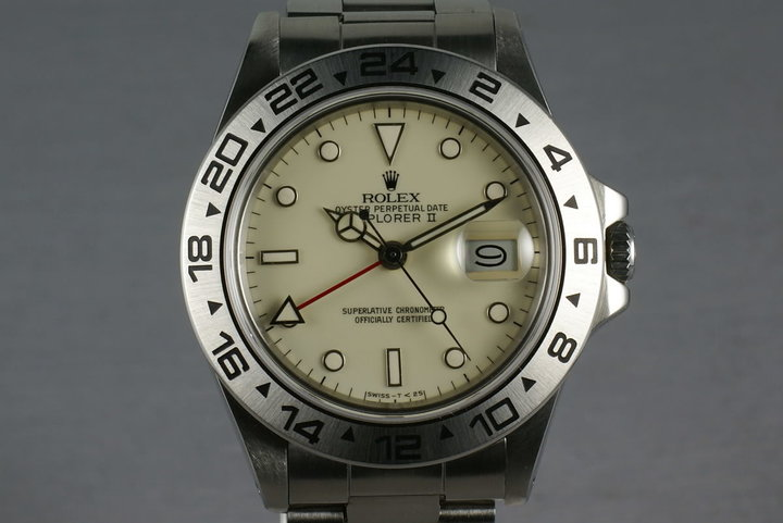 Rolex Explorer II 16550  Cream Rail Dial with service papers photo