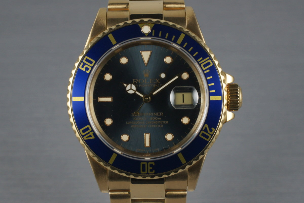 1989 Rolex 18K Submariner 16808 photo, #0