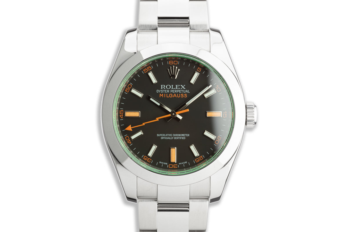 2008 Rolex Milgauss 116400GV Black Dial with Box and Card photo, #0