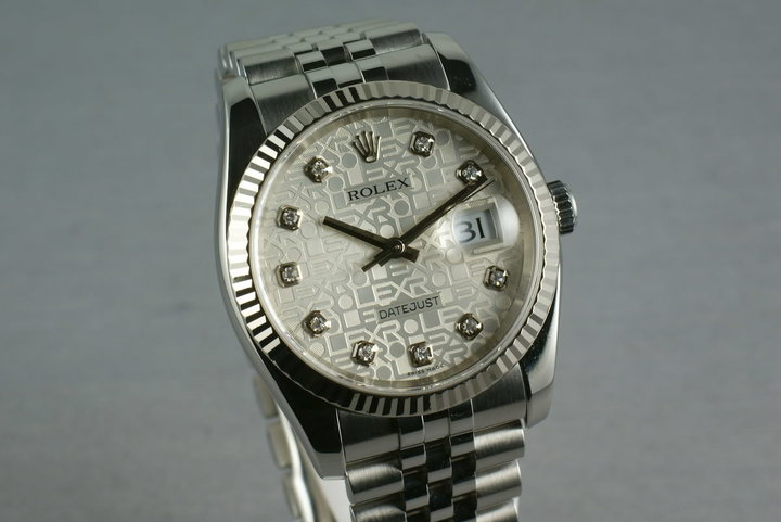 Rolex Modern Datejust 116234 Diamond Jubilee Dial photo