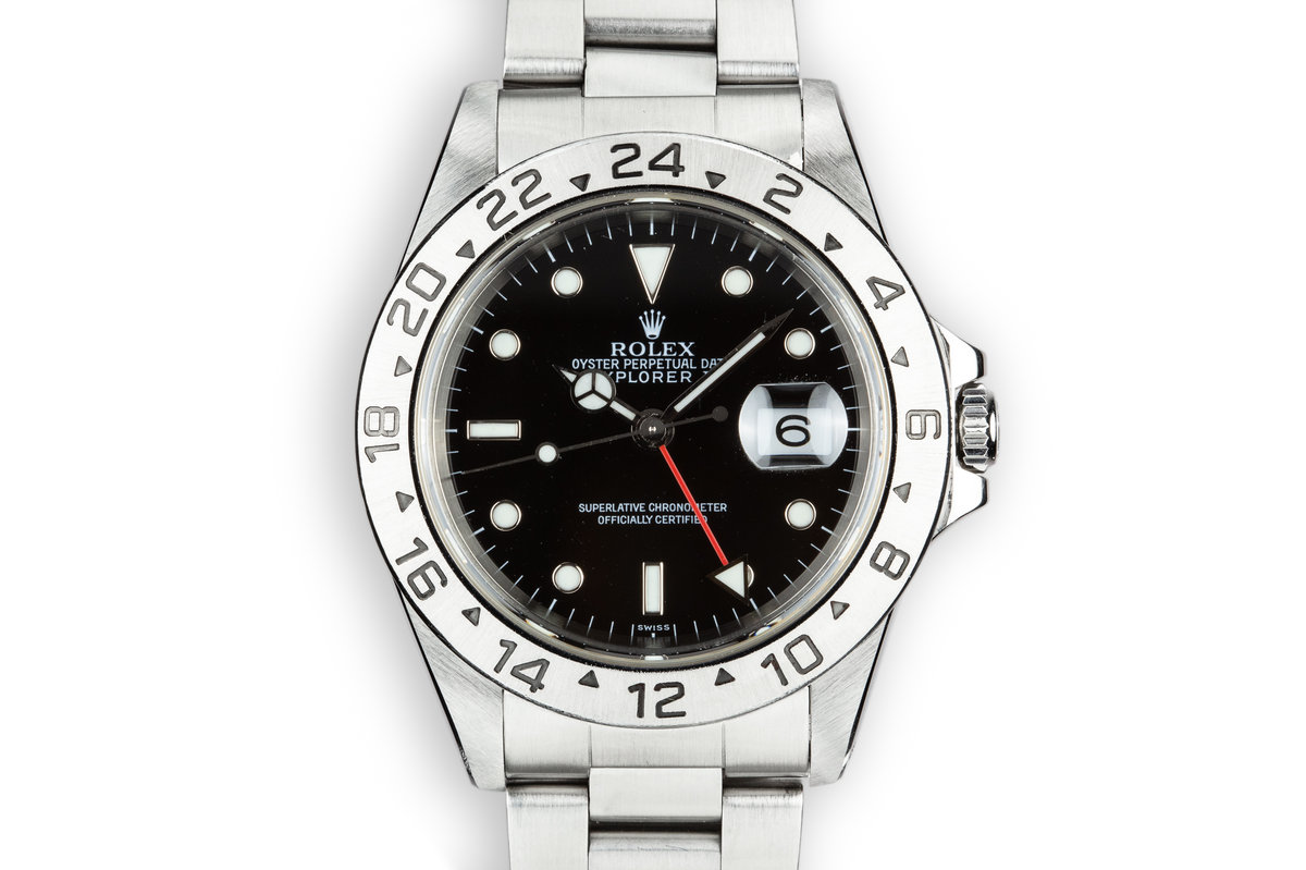 "1999 Rolex Explorer II 16570 with ""SWISS"" Only Black Dial photo, #0"