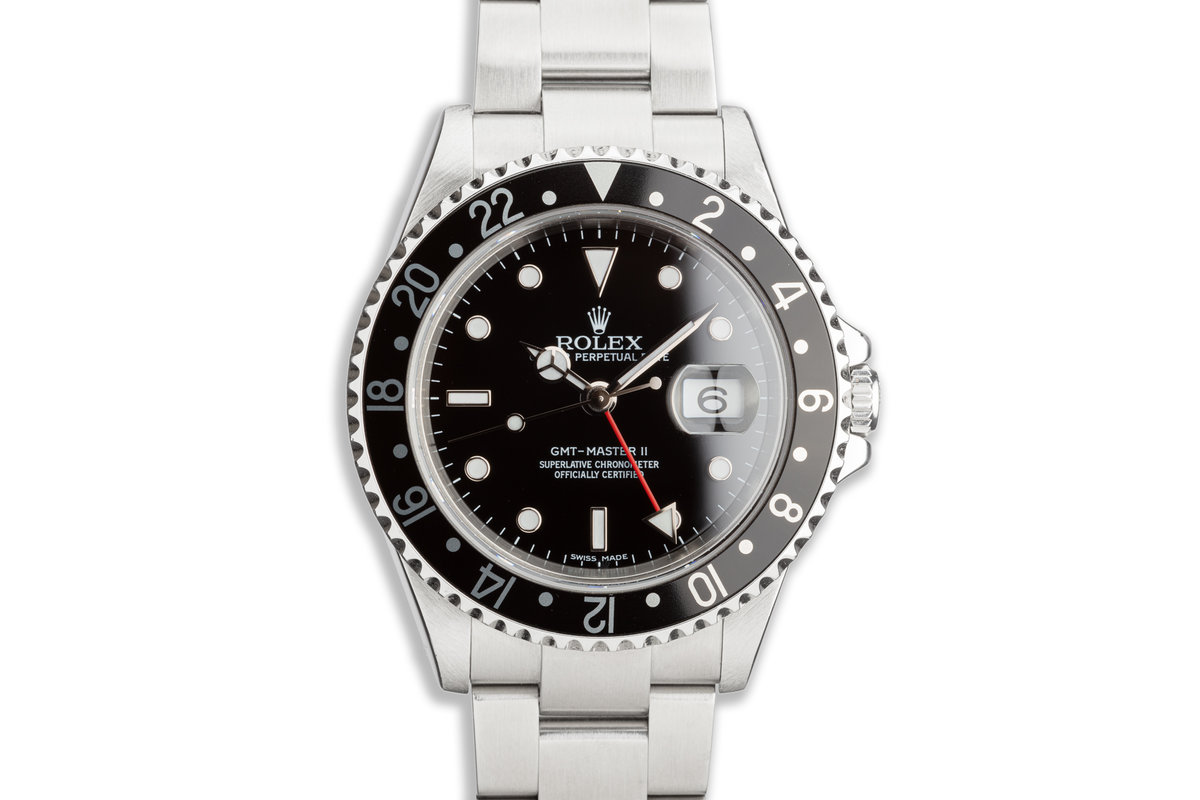 2006 Rolex GMT-Master II 16710 T Black Bezel with Box & Papers photo, #0