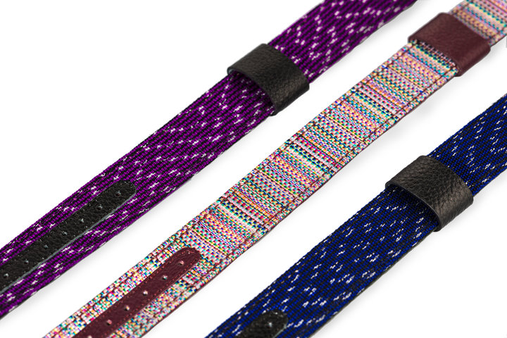 Hand Made Artisan Textile and Leather 20mm Watch Straps photo