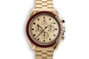 "2019 Omega 50th Anniversary 18K ""Moonshine Gold"" Speedmaster Professional 310.60.42.50.99.001 with Box and Papers photo"