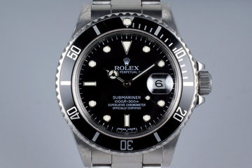 1988 Rolex Submariner 168000 Service Dial with Box and Papers photo