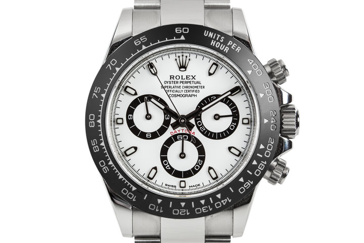 2017 Rolex Daytona 116500 White Dial with Black Ceramic Bezel and Box and Papers photo