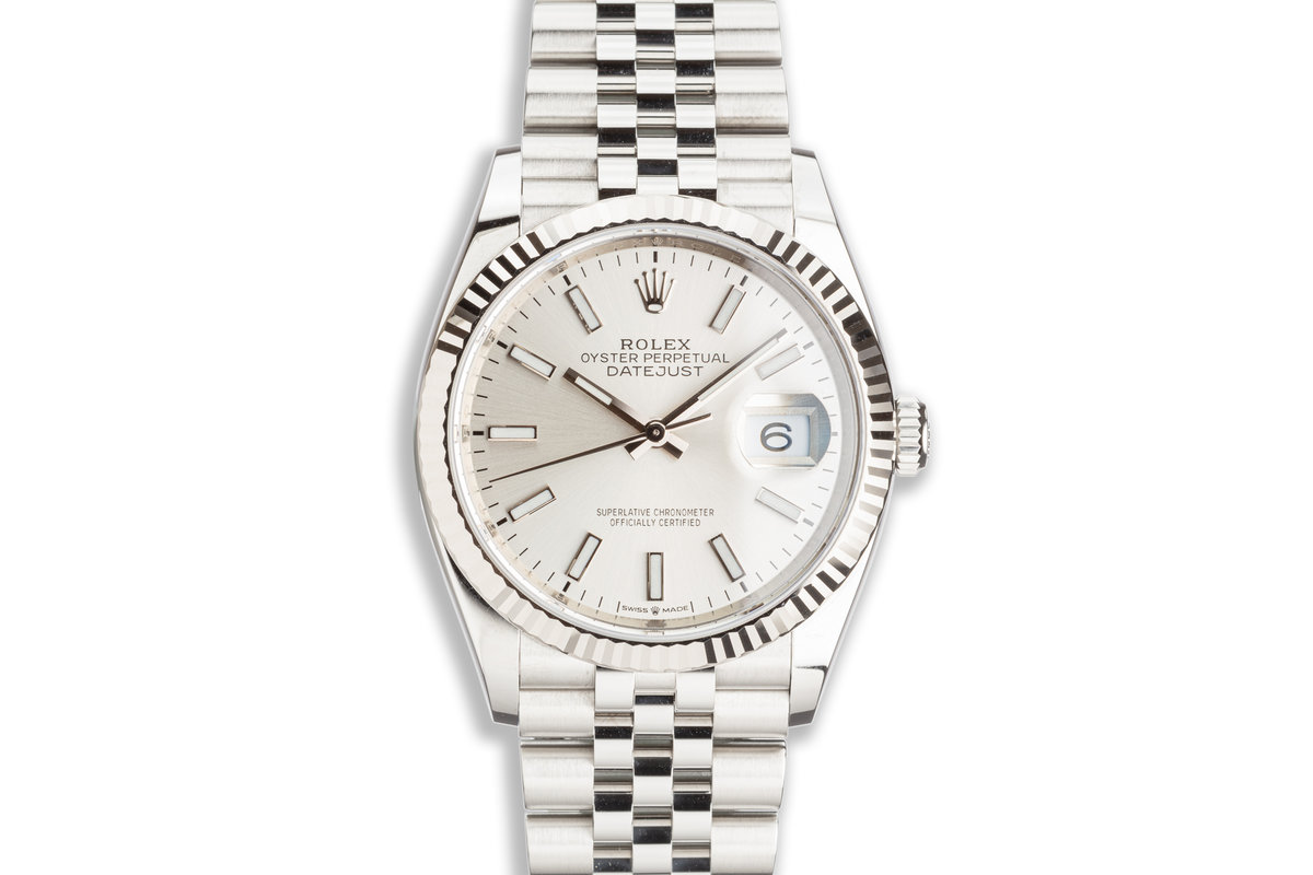 2020 Rolex Datejust 126234 Silver Dial with Box & Card photo, #0